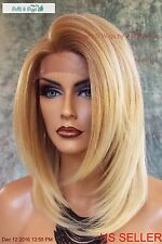 Lace Front Wig HAND TIED HEAT FRIENDLY T27.613 SOFT STRAIGHT LAYERS US SELL *277