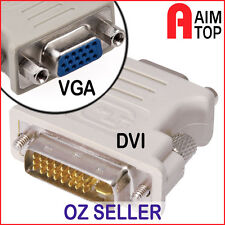 DVI 24+5-pin Male to VGA Female Adaptor Convertor - PC with DVI to VGA Monitor