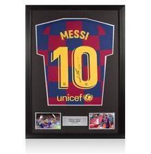 Framed Lionel Messi Signed FC Barcelona 2019-20 Home Shirt - Number 10