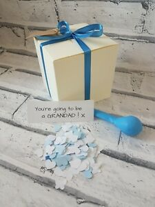 You're going to be a Grandad, pop the balloon,  baby news, personalised, new
