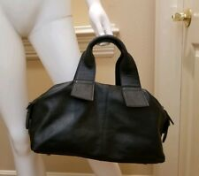 Siena Leather handbag. Black Satchel. Made in Italy.  Excellent condition.