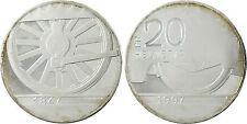 SUISSE   20  FRANCS  ARGENT  CHEMIN  DE  FER  1847 1997  PROOF   FLEUR  DE  COIN