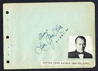 Little Jack Little (d. 1956) signed autograph 4x5 Album Page Songwriter / Actor