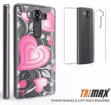Beyond Cell Tri Max®LG V10 Case, Ultra Slim 360°Full Body Cover ROSY HEARTS
