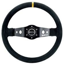 Sparco 215 Steering Wheel For Race/Rally/Saloon 350mm 90mm Dish - Black Suede