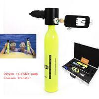 Underwater Air Spare Oxygen Tank Pump Mini Scuba Cylinder Diving Equipment Case