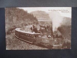 Used Vintage Post Card Railway on the way to Devil's Bridge, Aberystwyth