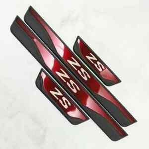MG ZS  Sill Cover Protector Scuff Plates Guard Red and Black Fits MG ZS EV