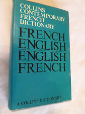 French / English Dictionary . 34,000 Word Entries Comprehensive Collins France