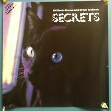 "Gil Scott-Heron And Brian Jackson - Secrets 24"" X 24"" In Store 1978 Promo Poster"