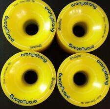 Orangatang 4 President Longboard Wheels 70mm 86A Yellow