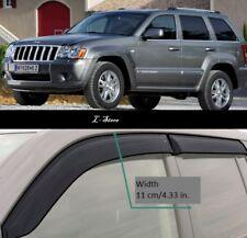 For Jeep Grand Cherokee 05-10 Side Window Visors Sun Rain Guard Vent Deflectors