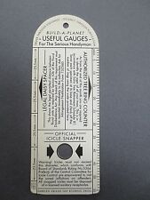 Vintage BOOKMARK Plastic Build A Planet Gauge For the Serious Handyman Joke