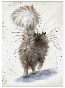 """""""Fluffy Butt"""" by Kim Haskins ~ Blank Greeting Card Funny Cats"""