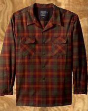 Pendleton Men's Size XXL Big & Tall Rust Green Check Mix Plaid Board Shirt Nwt