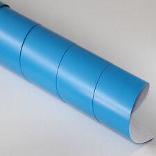 5x DIN A4 Wrapping Folie Matt Blau 21cm x 29,7cm Autofolie mit Luftkanälen