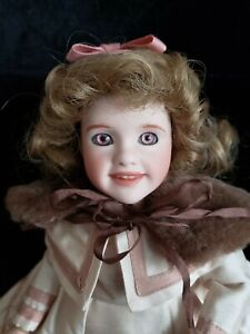 """2001 WENDY LAWTON """"ROSE IN BLOOM"""" 12"""" TOY VILLAGE ANNIVERSARY DOLL LMT ED 3/50"""