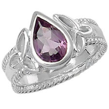Unbranded Sterling Silver Amethyst Solitaire Fine Rings