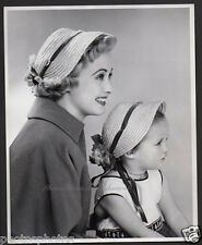 JANE POWELL & daughter VINTAGE ORIG PHOTO DBW by ENGSTEAD stamped