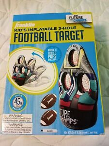 NIB Franklin Inflatable 3-Hole Football Target w/ 2 Footballs & Air-pump for 3+