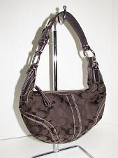 COACH 10073 Brown Sig. C Canvas w/Leather Trim Hobo - Shoulder Bag
