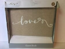 Way to Celebrate Burlap Guest Book
