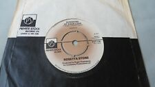 """ROSETTA STONE 7"""" SUNSHINE OF YOUR LOVE b/w STEAL WILLIE. PRIVATE STOCK 1977 +BAG"""
