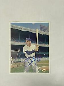 Joe Pepitone Signed 8X10 Photo New York Yankees Autograph Auto COA CAS