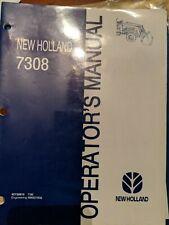 New Holland 7308 Loader Operators Manual Book Stock