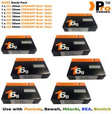 20mm+25mm+32mm+38mm+45mm+50mm+64mm STRAIGHT Nails 3500 nails for 16g Air Nailers