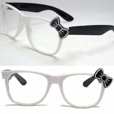 New Womens Hello Kitty Fashion Clear Lens Eye Glasses Bowknot Bow Frame Party