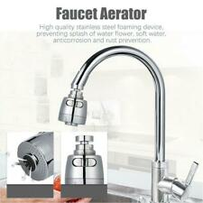 360° Home Faucet Aerator Water Bubbler Swivel Head Tap Extender Diffuser Nozzle