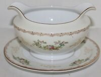 VTG Meito China Flora Gravy Boat - Hand Painted - Japan