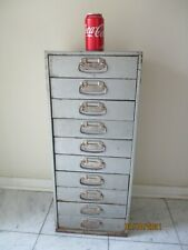 Vintage Metal Storage Cabinet Utility Box Industrial Bin Nuts Bolts Hobby Tools