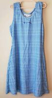 Womens xs JERDOG Athletic Golf Tennis Sun Dress Blue Sleeveless plaid checks