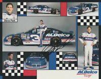 1997 Steve Park signed AC-Delco Chevy Monte Carlo NASCAR Busch postcard