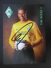 25925 Tim Wiese DFB Werder Bremen 09-10 original signierte Autogrammkarte