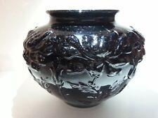 "Tiffin Black Glass #16273 Aster Bowl Vase 5 1/2"" h c.1925-1937 EX COND!"