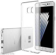 Samsung Galaxy Note 7 Thin Clear Transparent Rubber Silicone Gel Case Cover NEW