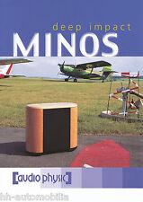 Prospekt Audio Physic Minos Lautsprecherboxen HiFi brochure Loudspeakers 2002 GB