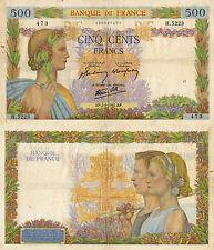BANCONOTA DA 500 FRANCHI FRANCESI DEL 2 APRILE 1942
