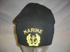 Bundesmarine Rollmütze/ Strickmütze, Marine mit Mützenkranz und Schriftzug