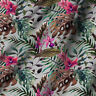 "44"" Leafs Print Pure Cotton Fabric Sewing Dress Apparel Making & Crafts By Yard"