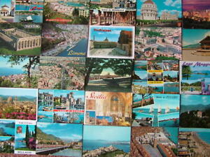 100 Used Postcards of ITALY & ISLANDS. 1960's onwards.