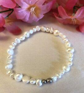 Silpada B1601 SINGLE (1) 'Goddess' Freshwater Pearl Bracelet WEDDING BRIDAL