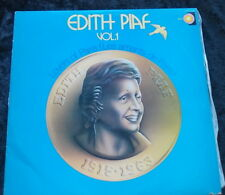 EDITH PIAF Volume 1 LP Lovers Of Paris