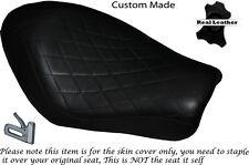 Diamante Stitch Negro Personalizado Para Harley Sportster Low Iron 883 Solo cubierta de asiento