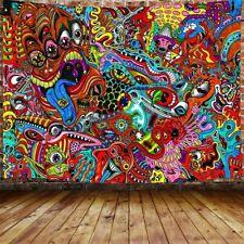 Trippy Arabesque Large Tapestry for Men Psychedelic Tapestry for Bedroom Dorm