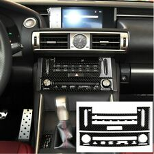 For LEXUS IS250 IS350 2014-2018 Carbon Fiber Air Condition CD Panel Cover Trim