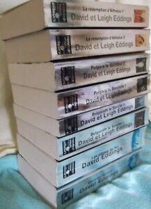 lot 8 livres de David  Eddings : Belgarath  Althalus Polgara les dômes de feu ..